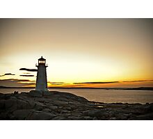 Peggy's Cove at Twilight Photographic Print