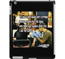 LEVITICUS 19:28 ON YOUR MARKS iPad Case/Skin
