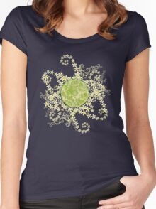 Lime and flowers garland Women's Fitted Scoop T-Shirt