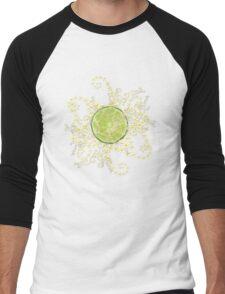 Lime and flowers garland Men's Baseball ¾ T-Shirt