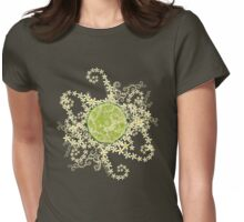 Lime and flowers garland Womens Fitted T-Shirt