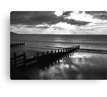 Stormy over Wales in B&W Canvas Print