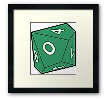 10 Sided Dice D10 Framed Print