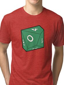10 Sided Dice D10 Tri-blend T-Shirt