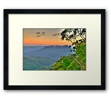 Tree Change - Blue Mountains World Heritage Area - The HDR Experience Framed Print
