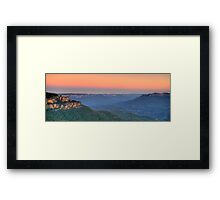 World Heritage - Blue Mountains World heritage - The HDR Experience Framed Print