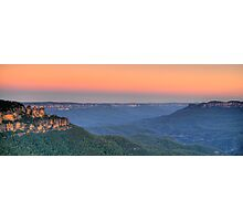 World Heritage - Blue Mountains World heritage - The HDR Experience Photographic Print