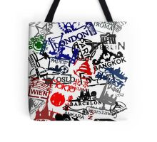 Travel Destination Passport Stamps Tote Bag