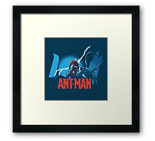 ANT-MAN / BAT-MAN MASHUP Framed Print