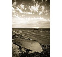 Shark Bay Boat Photographic Print