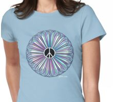 Burst of Peace Artwork Womens Fitted T-Shirt