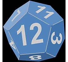 12 Sided Dice D12 Photographic Print