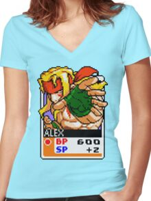 Alex Women's Fitted V-Neck T-Shirt