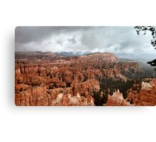 Bryce Canyon on a Cloudy Day Canvas Print