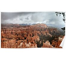 Bryce Canyon on a Cloudy Day Poster