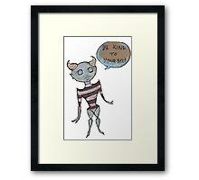 Self Care Alien Framed Print