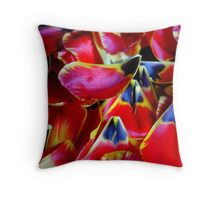 Tulip petals Throw Pillow