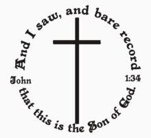 JOHN 1:34 circular Baby Tee