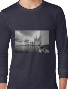 Downtown Manhattan A View From A Yacht Long Sleeve T-Shirt