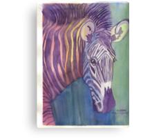 Multi Colored Zebra Canvas Print