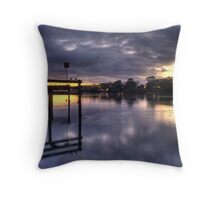 River sunrise. Throw Pillow
