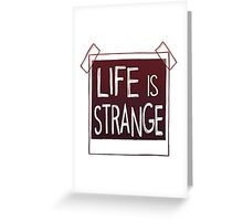 life is strange logo Greeting Card