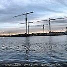 Shipyard Sunset by GreasyGrandma