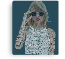 Blue Taylor Swift Typography Canvas Print
