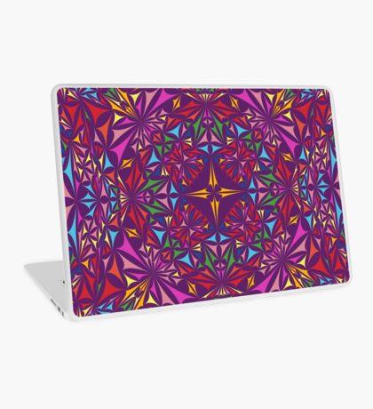 Colorful kaleidoscopic triangles Laptop Skin