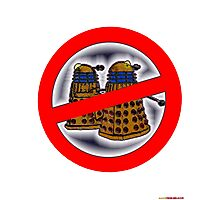 Doctor Who No Parking Sign Design Photographic Print