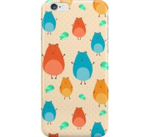 Cartoon funny hamsters iPhone Case/Skin
