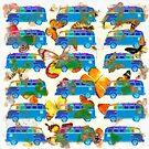 Butterflies and Surfer Vans by Edward Fielding