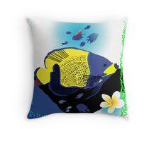 Big fish little fish Throw Pillow
