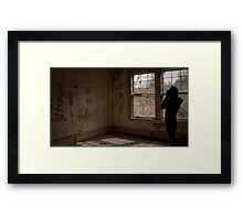 Through the lens Framed Print