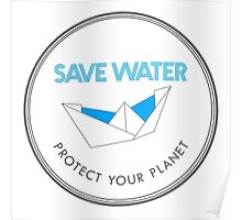 Save Water Protect Your Planet Poster