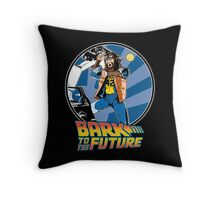 Bark to the Future Throw Pillow