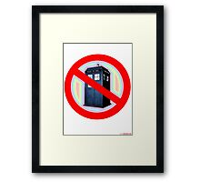 Dalek No Parking Sign T-shirt Design Framed Print