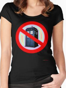 Dalek No Parking Sign T-shirt Design Women's Fitted Scoop T-Shirt