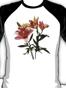 Pink Lily Trio T-Shirt