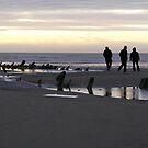 Walk on the beach by aejharrison