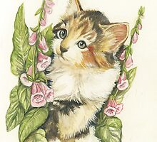 Flower Kitten by morgansartworld
