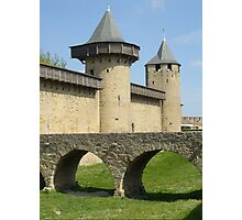 Carcassonne moat Photographic Print