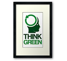 Think Green Framed Print
