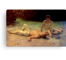Noonday Heat by Henry Scott Tuke, 1902 Canvas Print