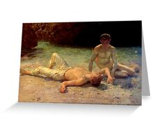 Noonday Heat by Henry Scott Tuke, 1902 Greeting Card