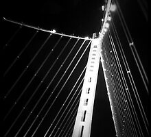 LIFE'S LITTLE GEMS - B&W Bay Bridge by Vanessa Sam