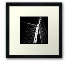 LIFE'S LITTLE GEMS - B&W Bay Bridge Framed Print
