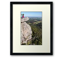 Lady at Vincent's Lookout Framed Print