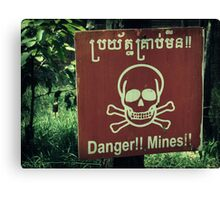 Danger Landmines Canvas Print