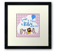 Baby Oz Blue Framed Print